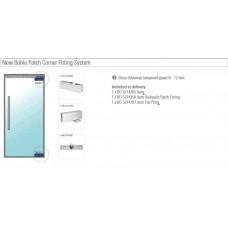 Набор фурнитуры для стеклянных дверей с доводчиком