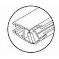 Профиль магнитный для душевых кабин HDL 208