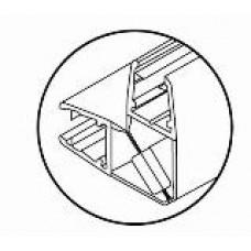 Профиль магнитный для душевых кабин HDl 210