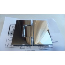 Петля душевая стекло-стекло 180 гр HDL-303D