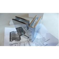 Петля душевая стекло-стекло HDL-304D