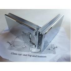 Петля душевая стекло-стекло HDL-304F