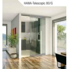 Раздвижные двери с фурнитурой HAWA-Telescopic 80/G