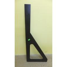 Угольник Bohle для стекла с перекладиной, черный 80 см