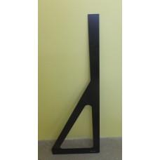 Угольник для стекла Bohle с перекладиной, черный 105 см