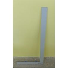 Угольник для стекла Bohle без перекладины, серый 80 см