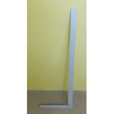 Угольник для стекла Bohle без перекладины, серый 105 см