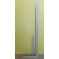 Угольник для стекла Bohle без перекладины, серый 150 см